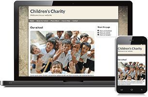 Charity website example