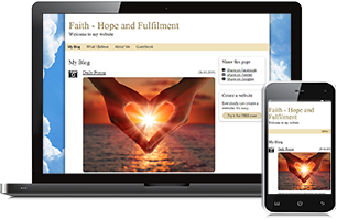 Faith website example
