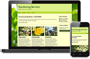 Gardener website example
